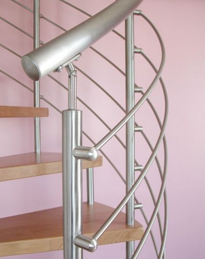 design rambarde escalier suspendu acier. Black Bedroom Furniture Sets. Home Design Ideas